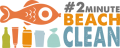 #2minutebeachclean logo